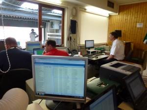 Der Auswertungsraum im LLZ Frankfurt - ohne modernste Elektronik und Computer geht hier gar nichts.