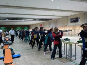Wettkampf Luftgewehr Juniorinnen im LLZ Frankfurt